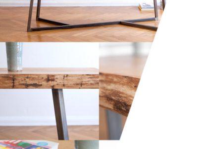 Holz + Stahl + Liebe = der perfekte Tisch