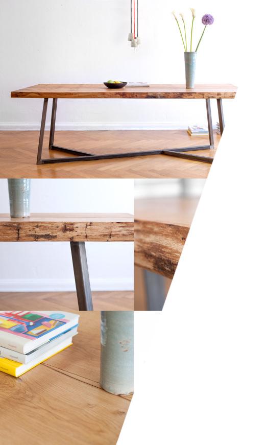 holz stahl liebe der perfekte tisch muxm uschenwild magazin. Black Bedroom Furniture Sets. Home Design Ideas